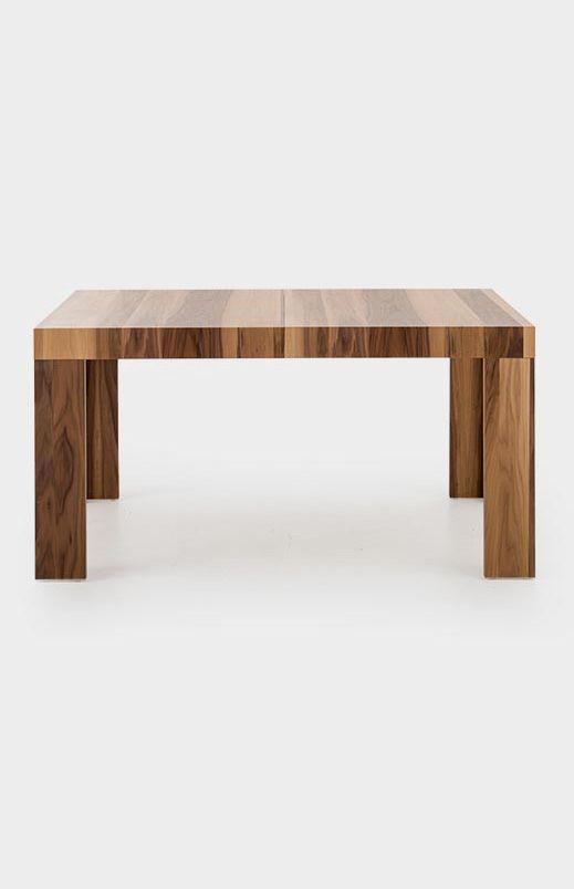Table Rectangulaire En Noyer Brun Avec Rallonge Centrale
