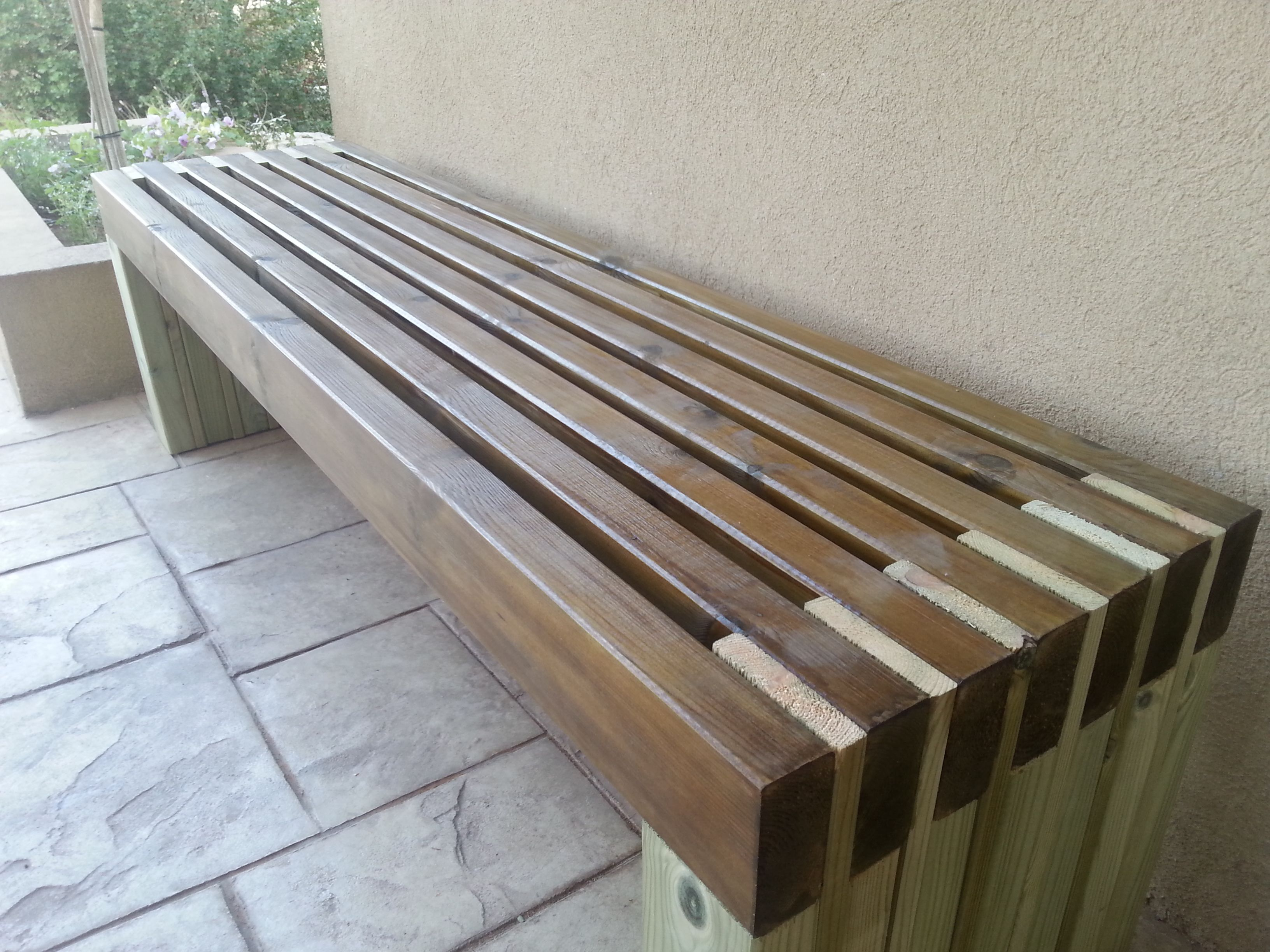 Do It Yourself Home Design: My New And Amazing Outdoor Bench