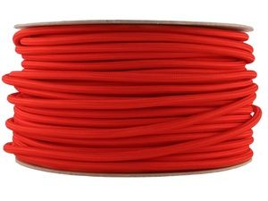 Image of BRIGHT RED | fabric lighting flex cable | ROUND