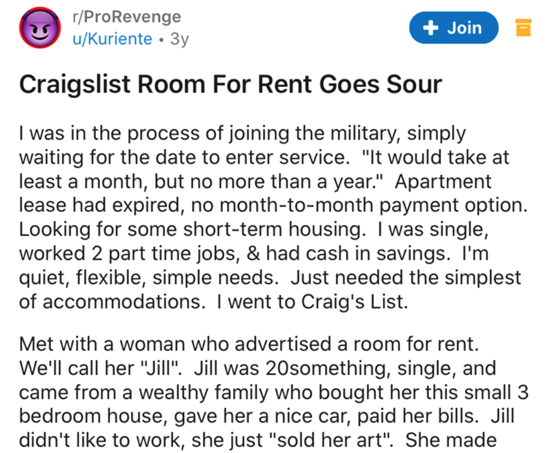 Craigslist Room For Rent Goes Sour Nuclear Revenge Ensues In 2020 Revenge Being A Landlord Rooms For Rent