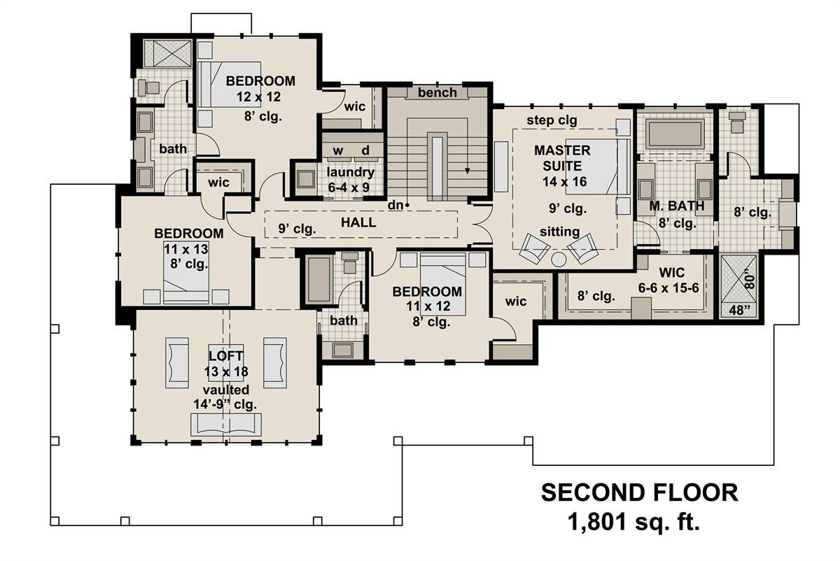 Plan 4328 2nd Floor Plan Floor Plans House Plans How To Plan