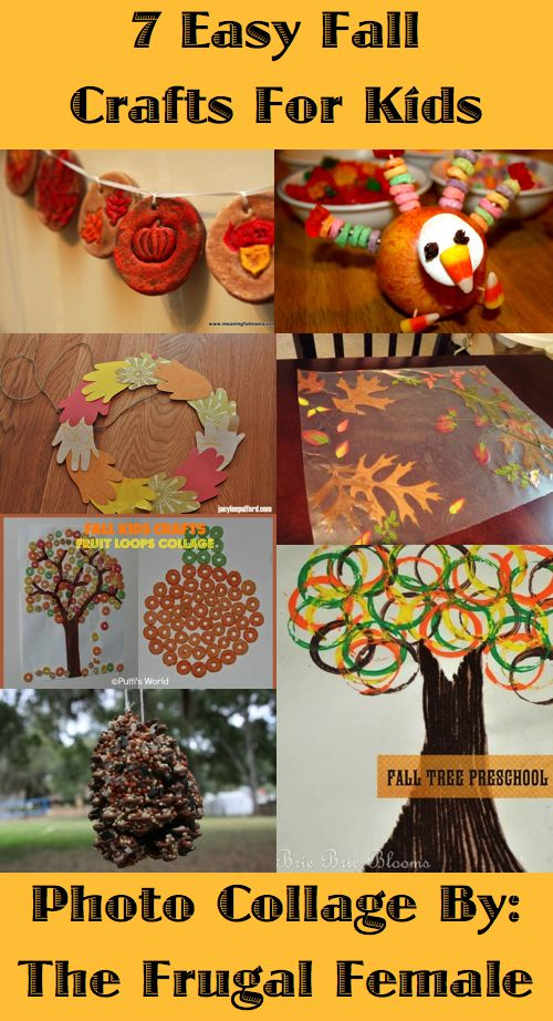 7 Easy Thanksgiving And Fall Crafts For Kids The Frugal Female