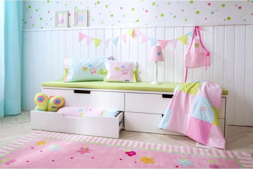Annette Frank Kissenbezug 'Schmetterling' weiß/rosa 35x40cm bei Fantasyroom