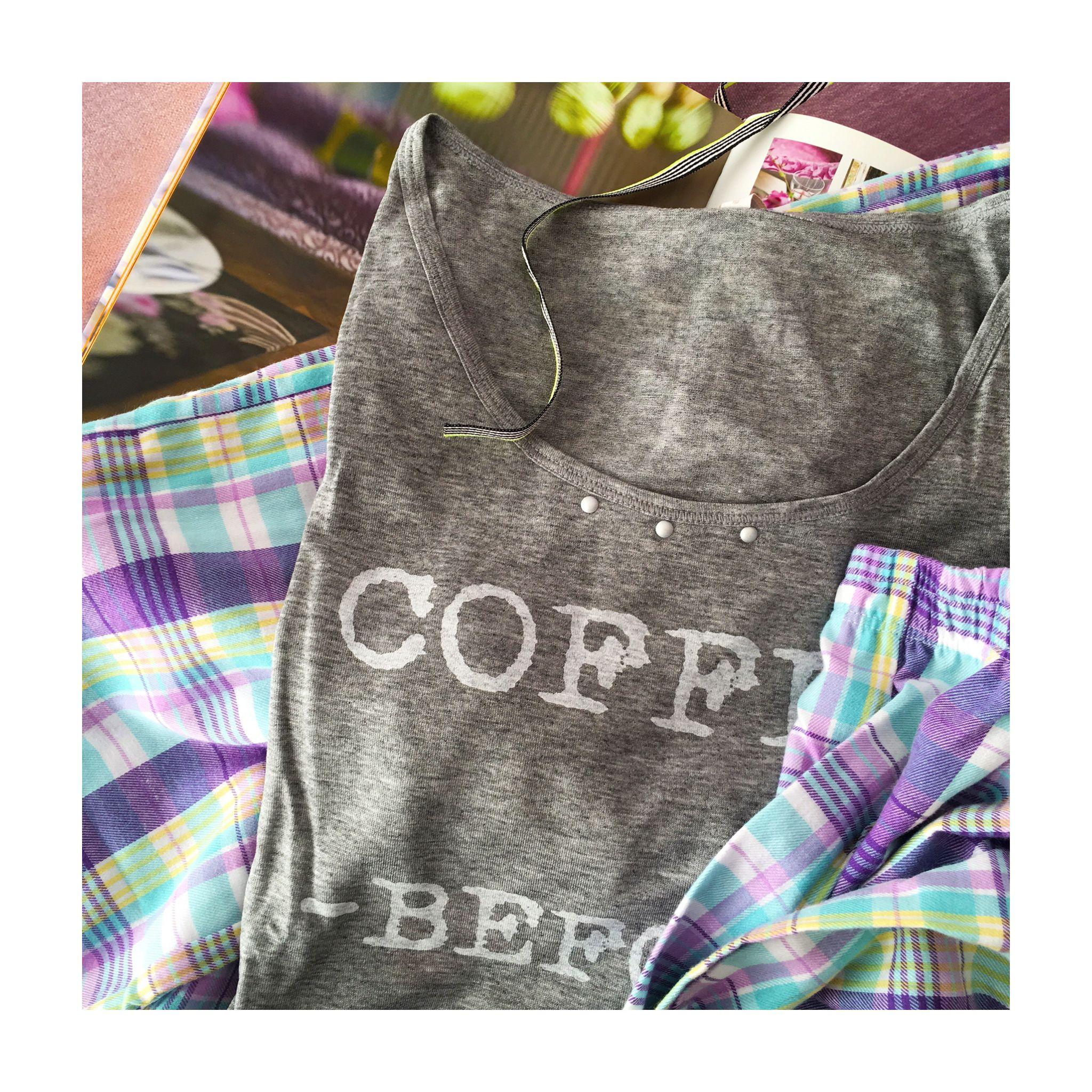 Pijama em flanela e malha, super comfy & cool #sotemnajoge