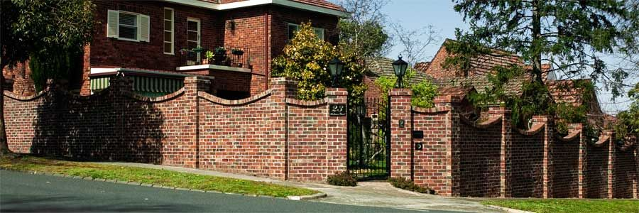 Brick Fence Ideas Recycled Brick Fence with Concave Brick on