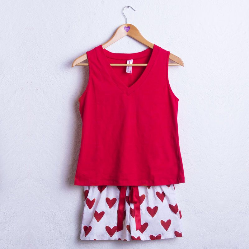 Pijama corazones para dama #love #corazones #pijama #lovepijama #trigopenelope #pijamastrigopenelope #dormirconestilo #fashion #moda #estilo