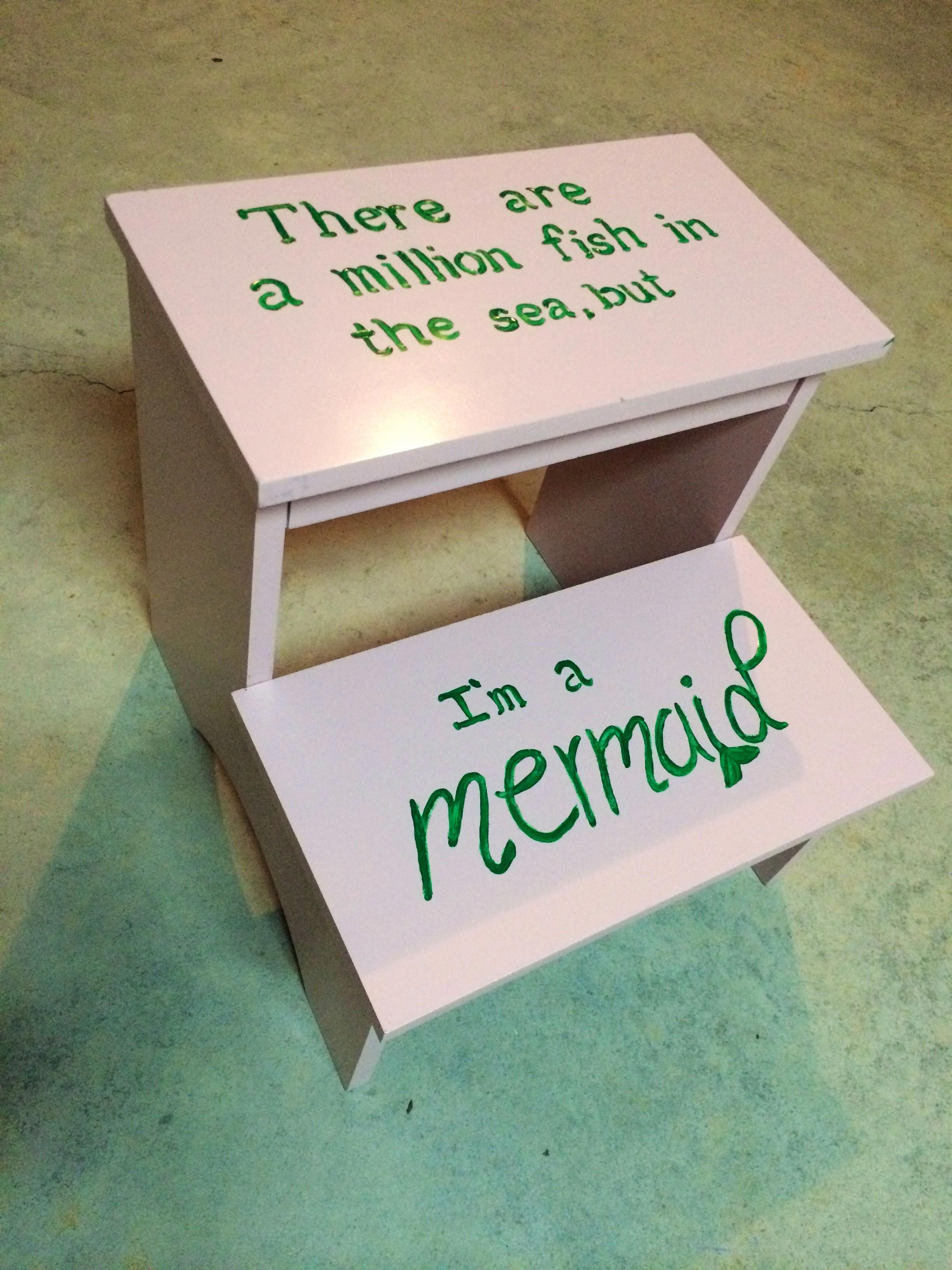 Baby girl bathroom mermaid theme continues #girlsbathroom #mermaidbathroomdecor