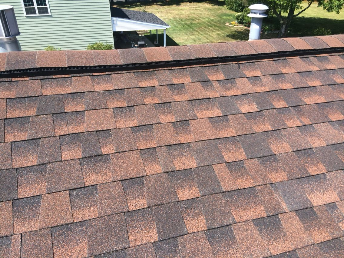 Gaf Timberline Hd Shingles In Burt Sienna With Snow Country Ridge Vent Installed By Heller S In Lansdale Pa Hellersbuilding Com Ridge Vent Shingling Roofing