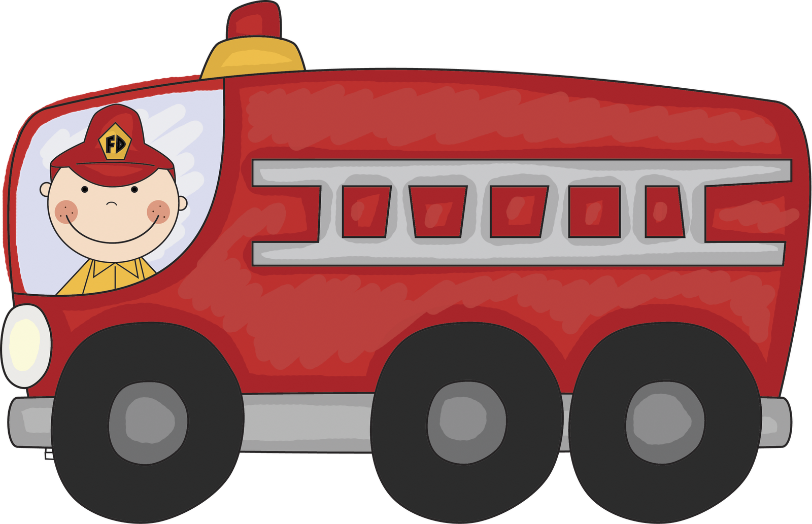 Vintage Fire Truck Clipart Panda Free Images