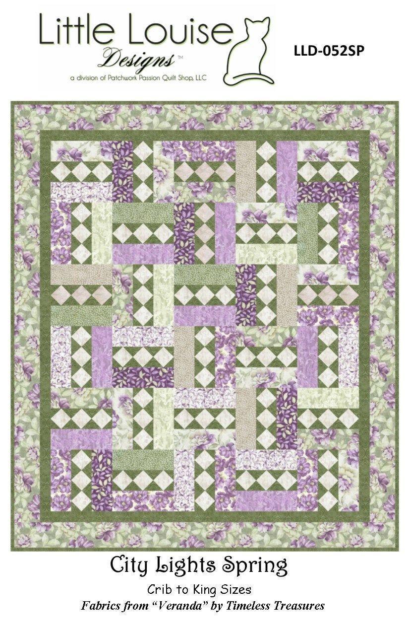 Quilt Pattern - City Lights Spring - Beautiful Pattern ...
