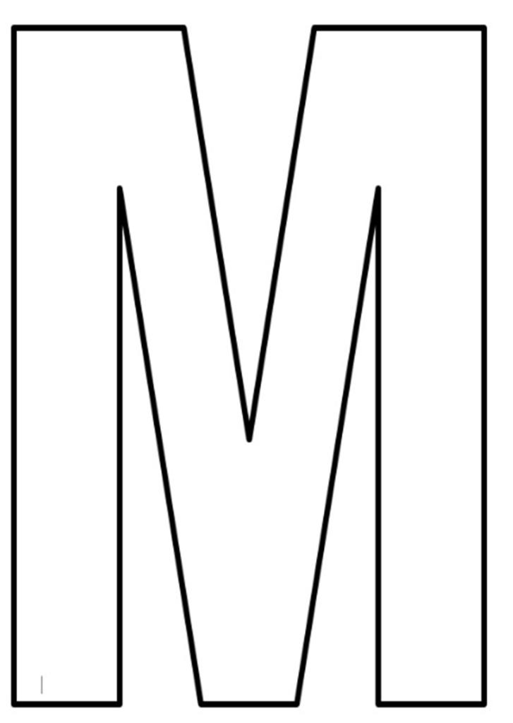 Moldes de letras grandes para imprimir molde de letras - Letras para letreros grandes ...