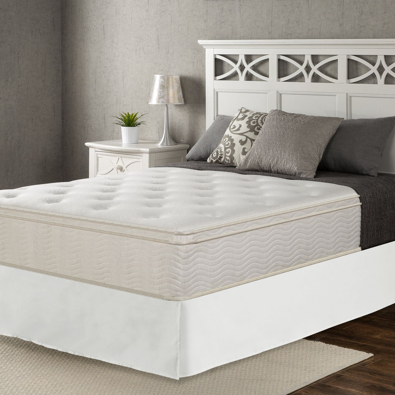 Night Therapy Classic 12 Euro Box Top Spring Mattress And Smartbase Set Cabeceras