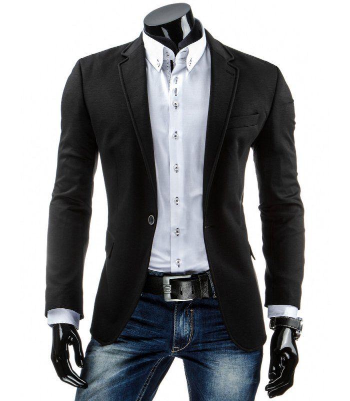 eedfb408ba84 Elegantné pánske sako. Módny strih sa ideálne prispôsobí každej postave.  Zapínanie na jeden gombík