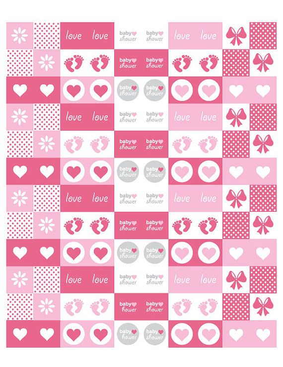 Baby Girl Hershey Kiss Printable Template - Interior Design 3d •