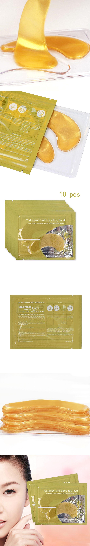 10pairs Lot 20pcs Natural Crystal Collagen Gold Powder Eye Mask Aye Maskanti