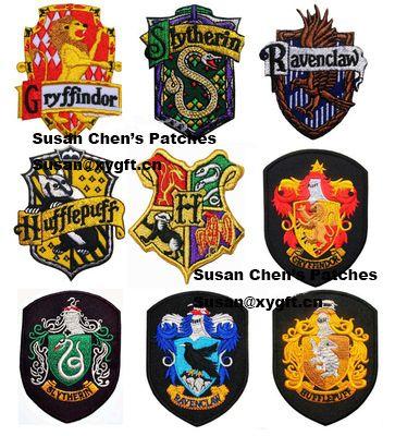 ¡ Venta caliente! bordado Parches de Animación Harry Potter parches de Hierro en 9 diferentes estilos de Películas Clásicas de Cresta Serpiente(China (Mainland))