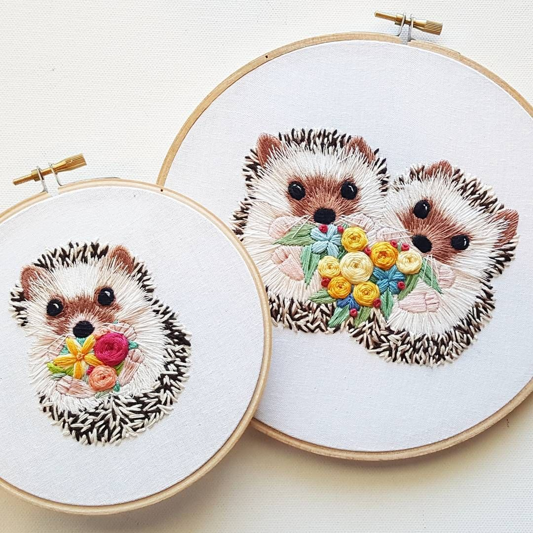Your daily hedgehog fix! The double hedgies are for an upcoming wedding - the flowers match the wedding colors ♥️