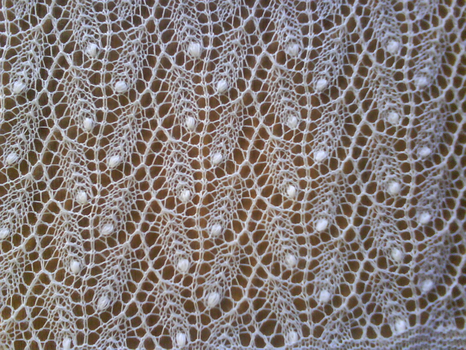 Estonian Knitted Lace Willow Pattern I Also Looks Like Heads Of