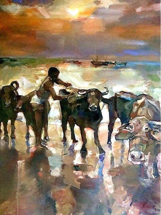 Buffalo Slosh Sri Lankan Art Gallery With Images Art Art