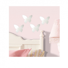 Speil i akryl - 4 små sommerfugler