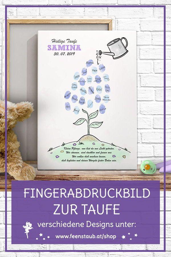 Fingerabdruckbild große Auswahl Taufe Geschenk - feenstaub.at   SHOP