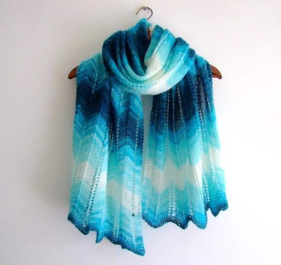 Zigzag Knitting Stitch Add Chevrons To Your Knitting Shawl