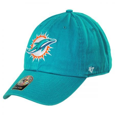 Miami Dolphins NFL Clean Up Strapback Baseball Cap Dad Hat  29e1b1c7f22
