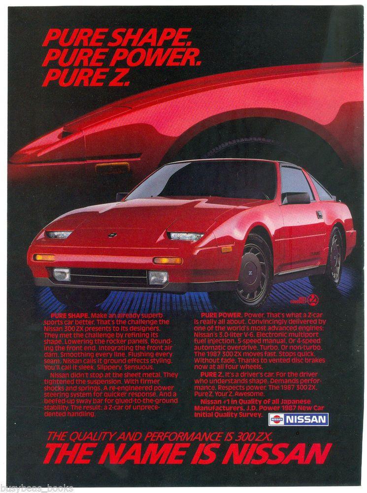 1987 Nissan 300 Zx Advertisement Nissan 300zx Red Sports Car Nissan Nissan 300zx Red Sports Car