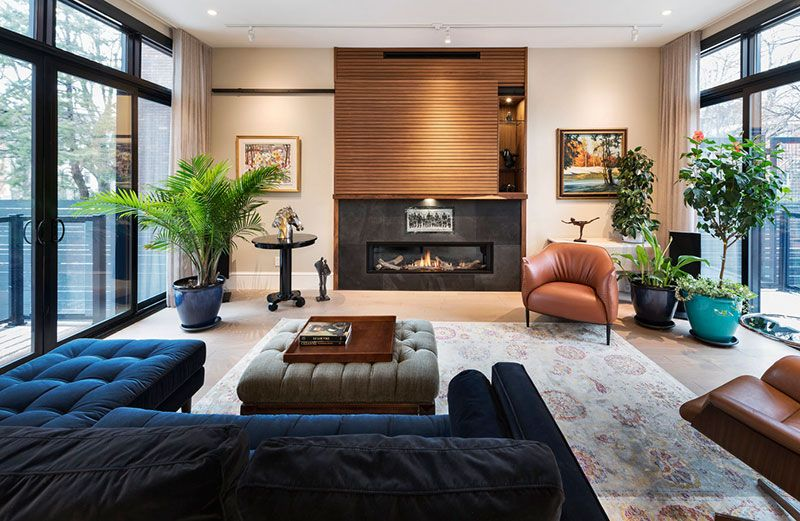 Cozy Modern Home In Canada Living Room Decor Inspiration Townhouse Interior Interior Remodel