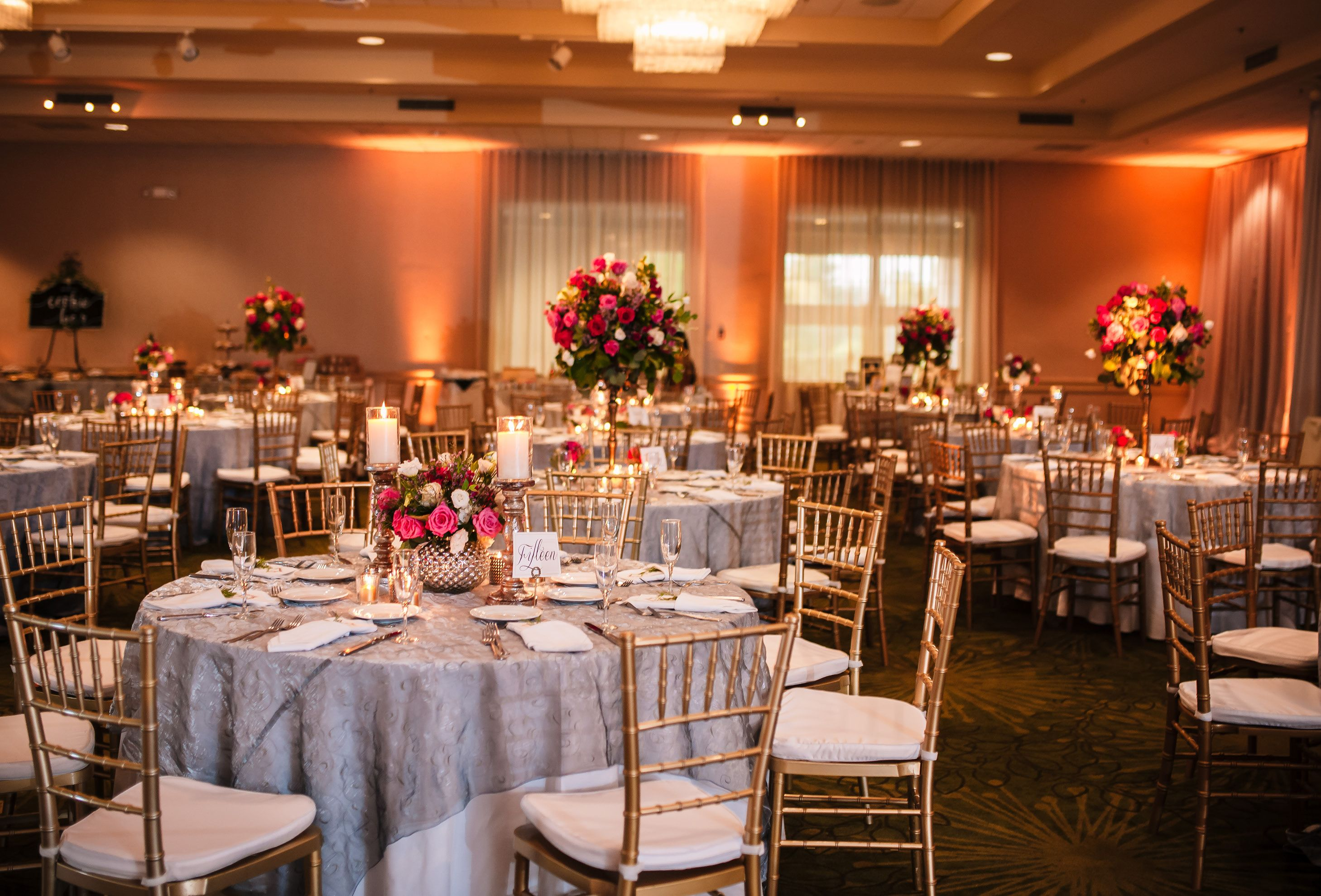Turf Valley Wedding Grand Ballroom Photography By Brea Affordable Reception Resort Wedding Table Decorations