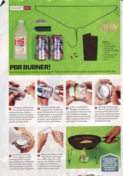 Pabst Blue Ribbon Camp Burner