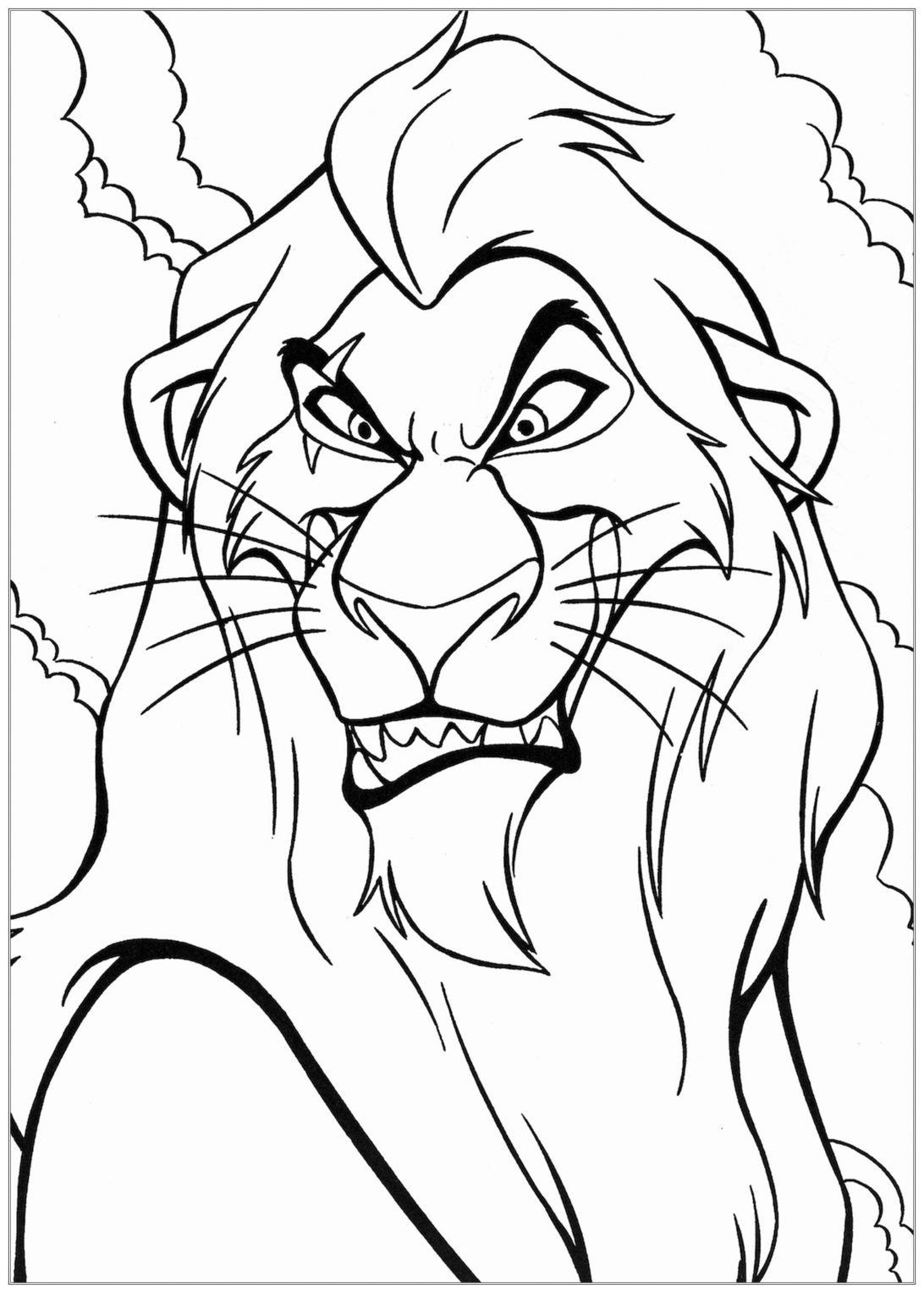 Lion Coloring Pages For Kids Coloring Pages The Lion Free To Color For Children Lion Coloring Pages King Coloring Book Disney Coloring Pages