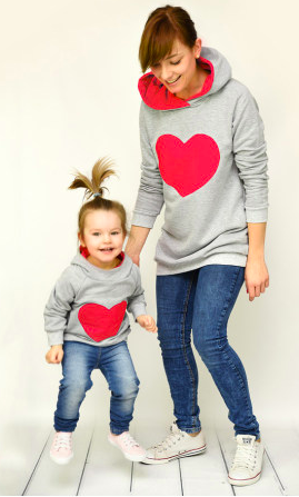 a87c52f09433 Get these mother daughter matching heart sweaters just in time for ...