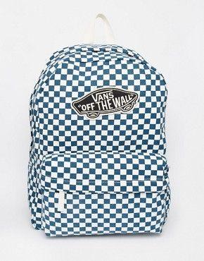 135dc8a73 Vans Checkerboard Backpack in Navy | Shoes in 2019 | Vans bags ...