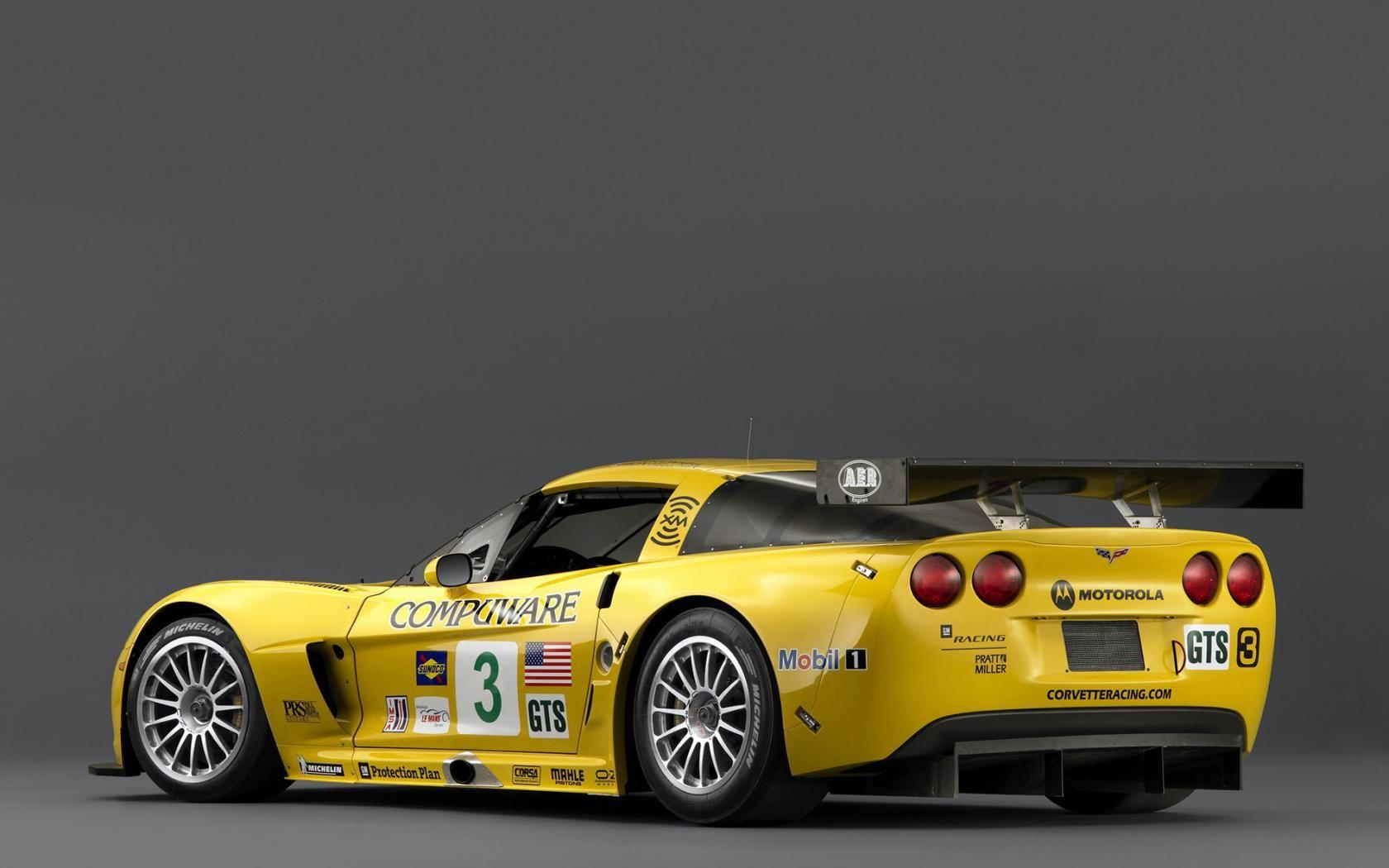 2011 Chevrolet Corvette C6R GTE yellow car