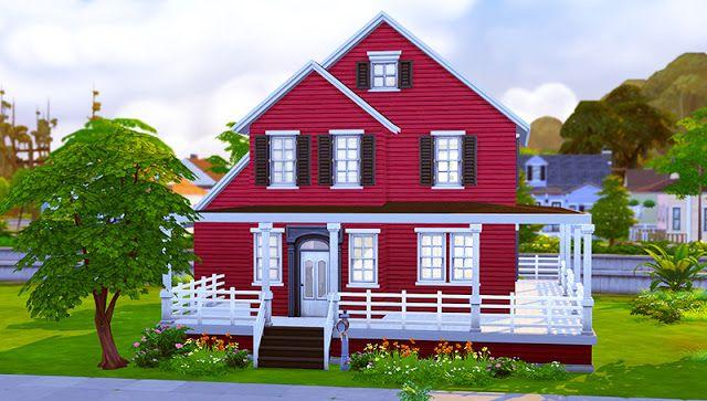sims 4 houses and lots burgundy craftsman house simspo sims 4 rh pinterest com