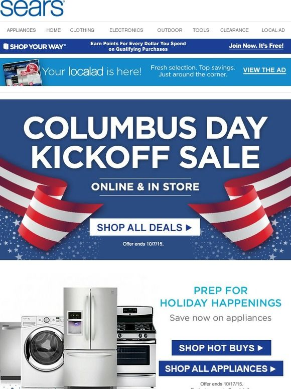 Pin By Danielle Boensich On Email Holidays Misc Sears Sears Appliances Local Ads