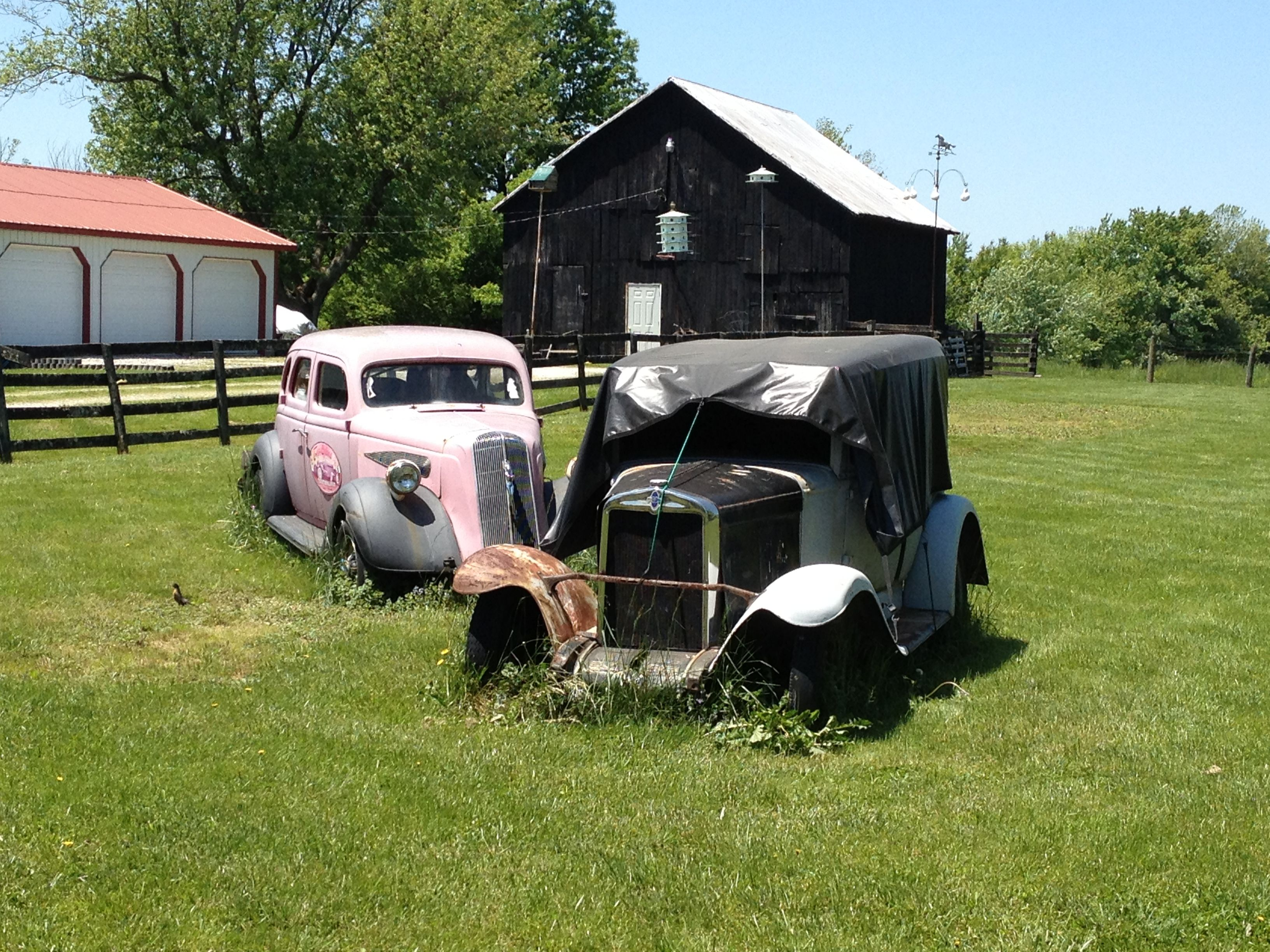 Old cars outside Loretto, KY