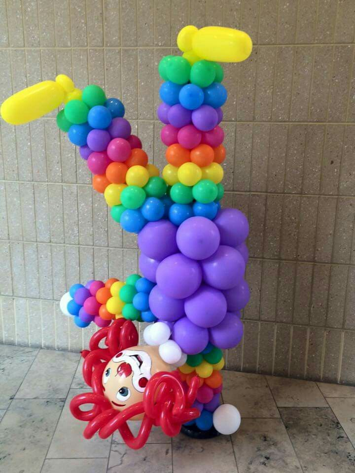 Clown column Fondos Pinterest Eventos, Globo y Decoración