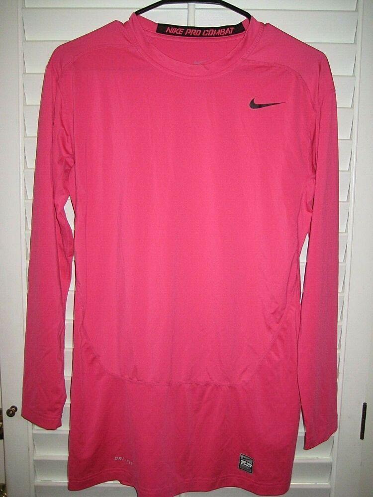 a8aa1c42 eBay Ad) Women's Nike PRO COMBAT DRI-FIT COMPRESSION L/S Shirt ...