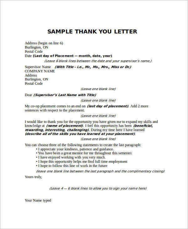 sample thank you letter boss free documents download word images - appreciation letter to boss