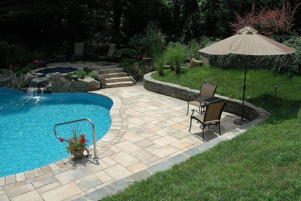 Patio Walls Around Patio Slab : Pool patio too hot concrete paver slabs look like stone