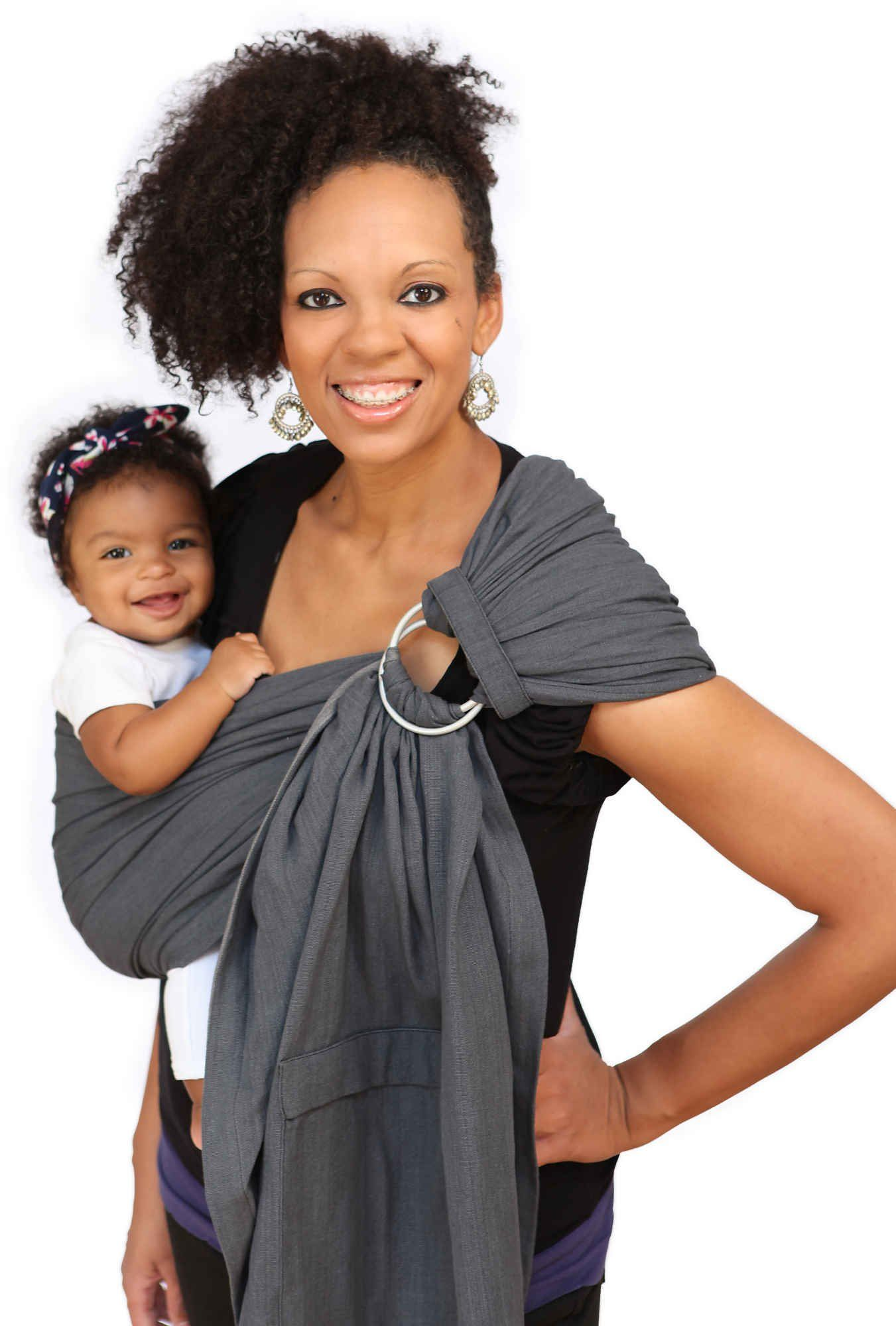 Maya Wrap Comfortfit Ring Sling Baby Carrier Graphite Medium With Images Ring Sling Baby Carrier Maya Wrap Baby Carrier