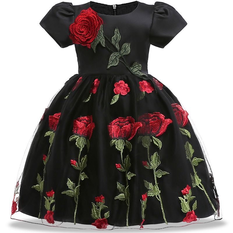 ea508af8a Embroidery Silk Princess Dress for Toddler Girl