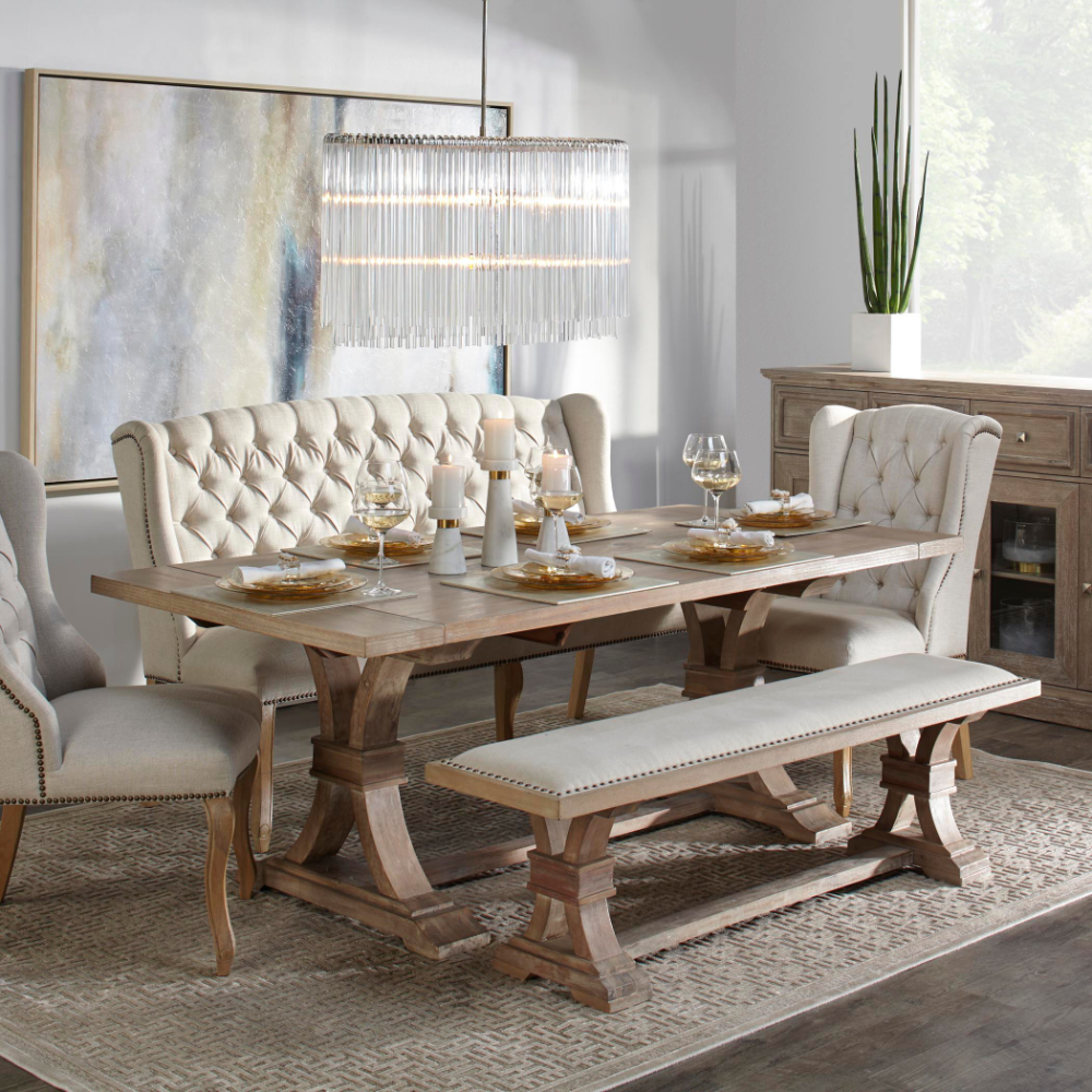 Chic Dining Table Archer Extending Dining Table Z Gallerie In