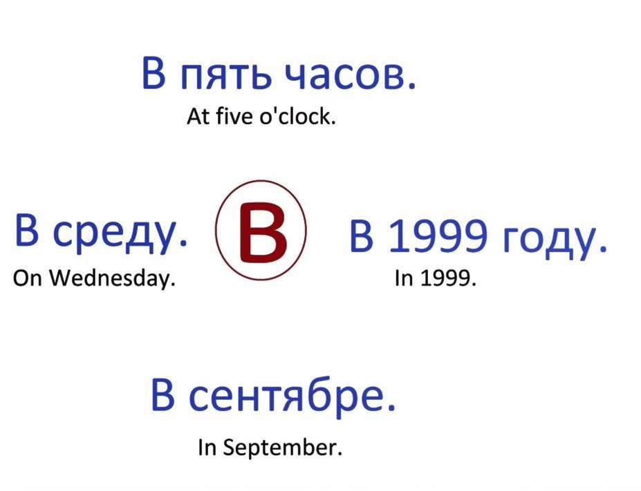 V Prepositions Of Time In Russian Russian Language Learning Learn Russian Russian Language