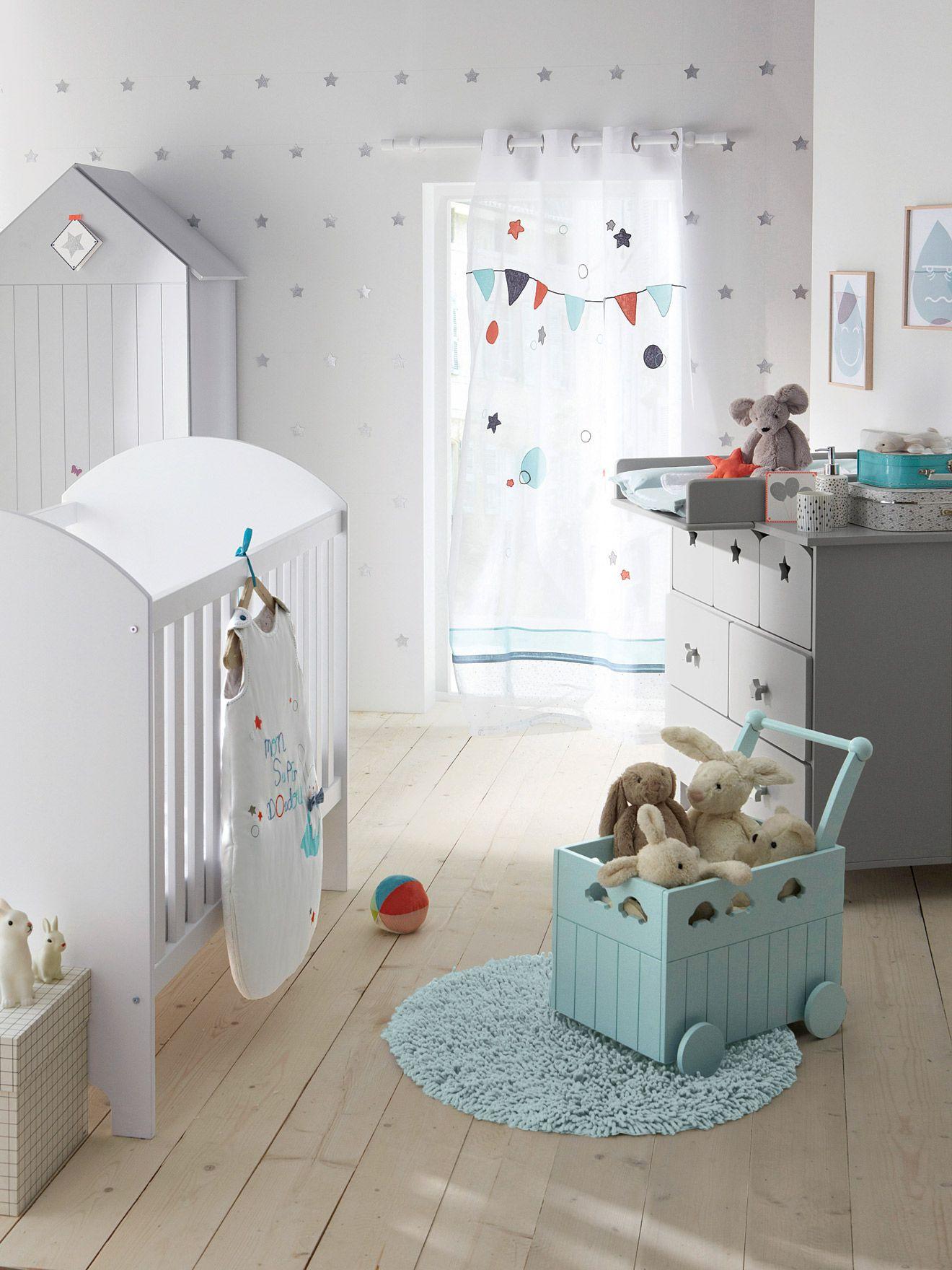 Baúl de almacenaje con ruedas para bebé, Habitación bebé ...