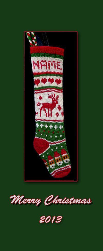 HandKnit Christmas Reindeer Pattern