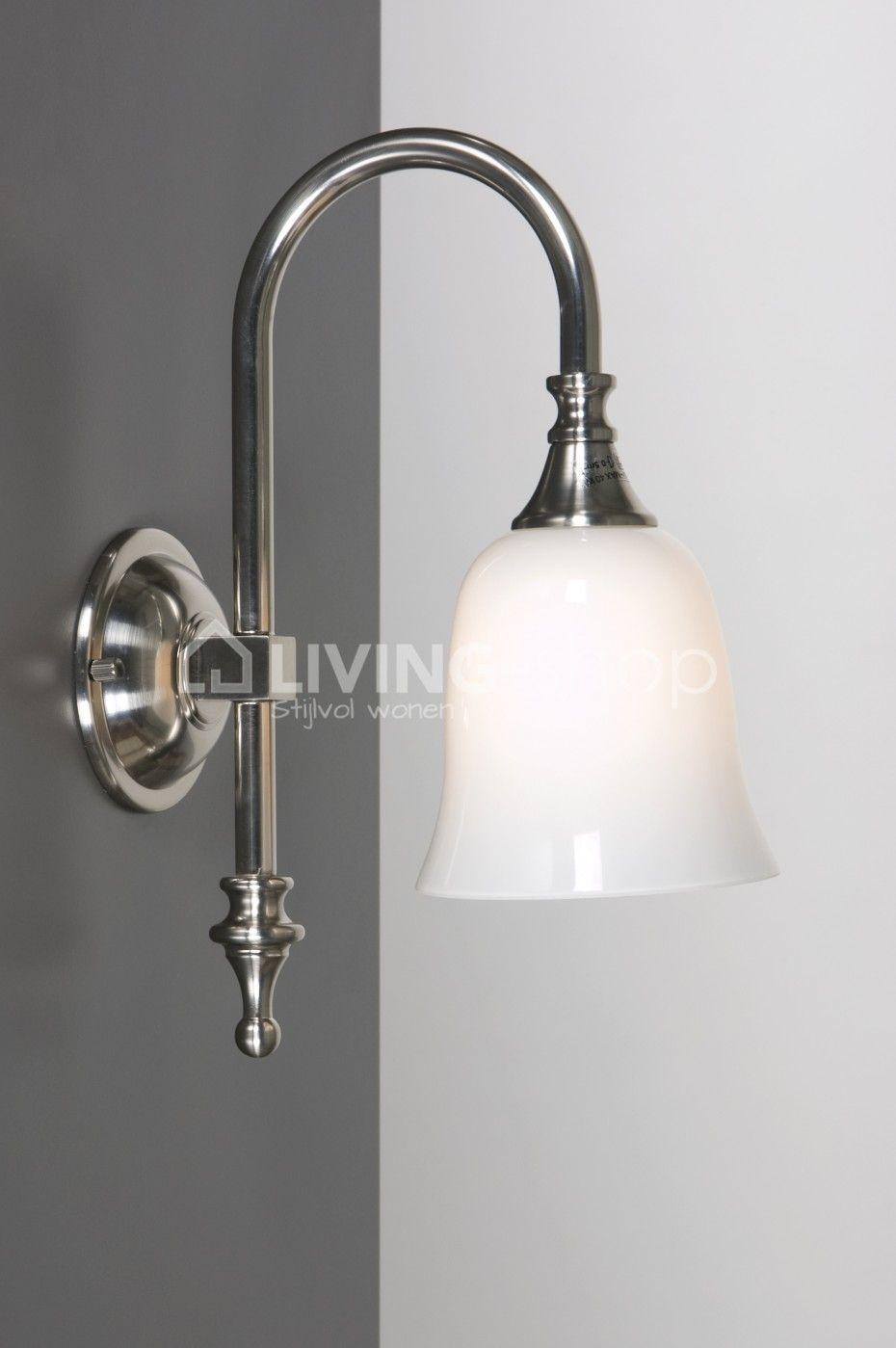 Wandlamp Bain Classic IP44, landelijke badkamerverlichting ...