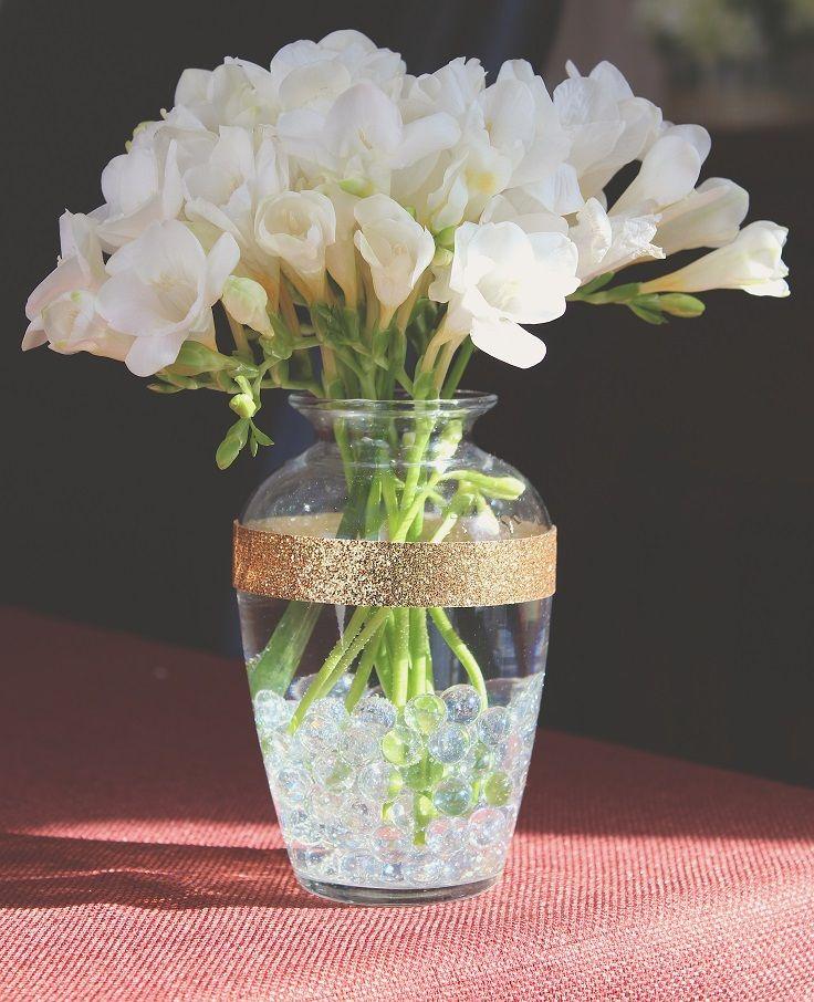 Top 10 DIY Chic and Creative Ways to Decorate a Vase Cosas - decorar jarrones altos